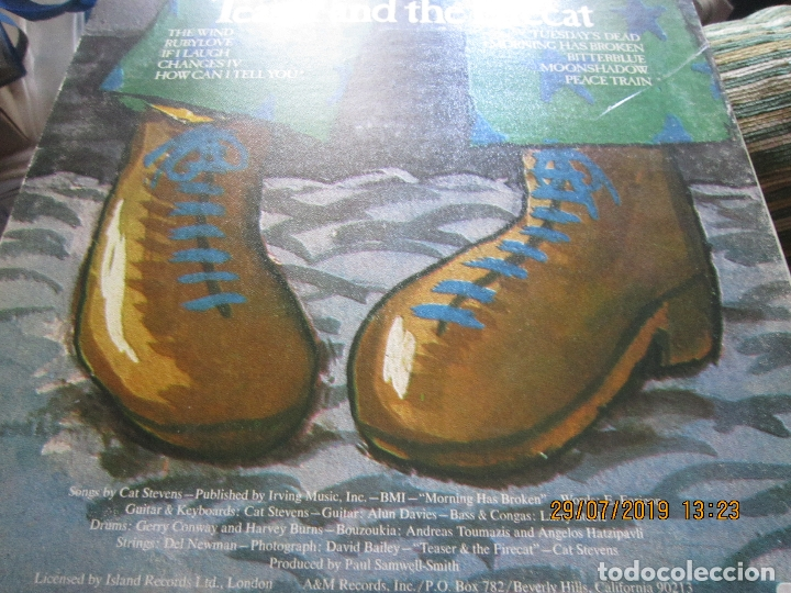 Discos de vinilo: CAT STEVENS - TEASER AND THE FIRECAT LP- ORIGINAL U.S.A. - A&M RECORDS 1971 - GATEFOLD COVER - - Foto 10 - 173020580