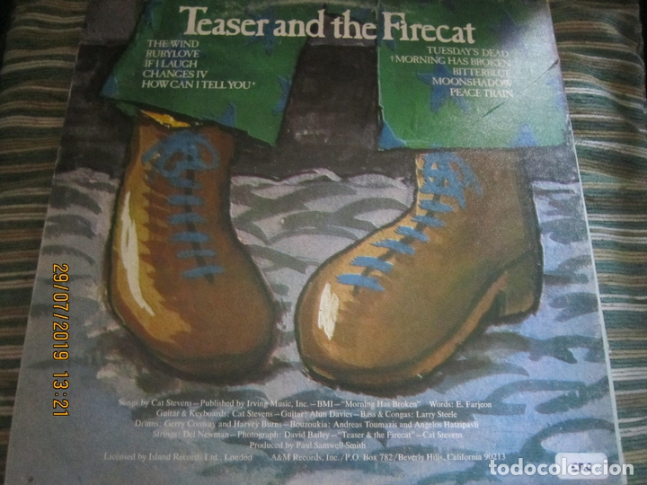 Discos de vinilo: CAT STEVENS - TEASER AND THE FIRECAT LP- ORIGINAL U.S.A. - A&M RECORDS 1971 - GATEFOLD COVER - - Foto 19 - 173020580