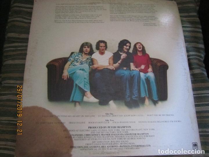 Discos de vinilo: PETER FRAMPTON - I´M IN YOU LP-ORIGINAL U.S.A. - A&M RECORDS1977 - PROMOTIONAL COPY - LABEL BLANCA - Foto 2 - 173023349