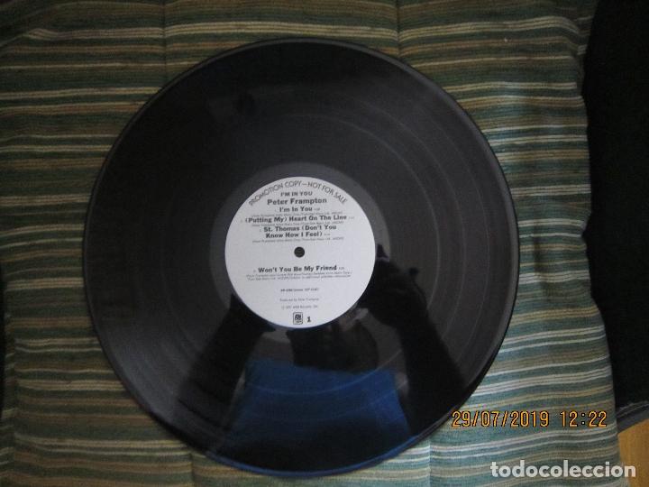 Discos de vinilo: PETER FRAMPTON - I´M IN YOU LP-ORIGINAL U.S.A. - A&M RECORDS1977 - PROMOTIONAL COPY - LABEL BLANCA - Foto 10 - 173023349