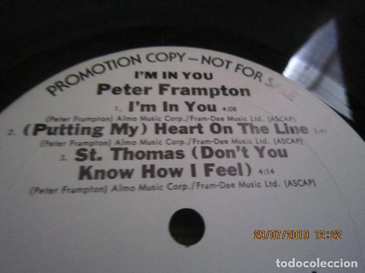 Discos de vinilo: PETER FRAMPTON - I´M IN YOU LP-ORIGINAL U.S.A. - A&M RECORDS1977 - PROMOTIONAL COPY - LABEL BLANCA - Foto 12 - 173023349