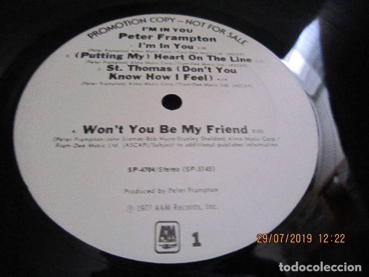 Discos de vinilo: PETER FRAMPTON - I´M IN YOU LP-ORIGINAL U.S.A. - A&M RECORDS1977 - PROMOTIONAL COPY - LABEL BLANCA - Foto 13 - 173023349