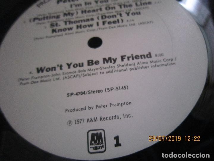 Discos de vinilo: PETER FRAMPTON - I´M IN YOU LP-ORIGINAL U.S.A. - A&M RECORDS1977 - PROMOTIONAL COPY - LABEL BLANCA - Foto 14 - 173023349