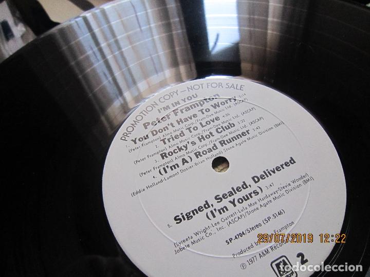 Discos de vinilo: PETER FRAMPTON - I´M IN YOU LP-ORIGINAL U.S.A. - A&M RECORDS1977 - PROMOTIONAL COPY - LABEL BLANCA - Foto 18 - 173023349