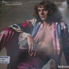Discos de vinilo: PETER FRAMPTON - I´M IN YOU LP-ORIGINAL U.S.A. - A&M RECORDS1977 - PROMOTIONAL COPY - LABEL BLANCA. Lote 173023349