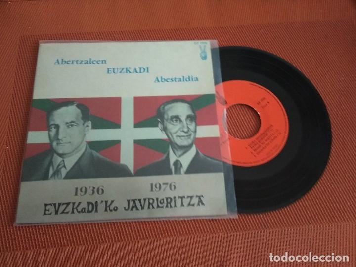 ABERTZALEEN EUSKADI ABESTALDIA / 1936 -1976 EUZKADI'KO JAURLARITZA / EP 45 RPM /// EDITADO EZ (Música - Discos de Vinilo - EPs - Country y Folk)