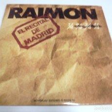 Discos de vinilo: LP. DOBLE. RAIMON. EL RECITAL DE MADRID. 1976. MOVIEPLAY. Lote 173038748