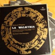 Discos de vinilo: LP BOX (5 LP) LA WALKYRIIA:1967, BERLINER PHILHARMONIKER, HERBERT VON KARAJAN,COMO NUEVO(NM_NM). Lote 173048035