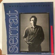 Discos de vinilo: JOAN MANUEL SERRAT - MATERIAL SENSIBLE - LP ARIOLA 1989. Lote 173050119