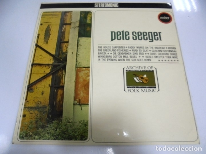 LP. PETE SEEGER. THE HOUSE CARPENTER. ARCHIVE OF FOLK MUSIC. STEREOMONIC. 1968 (Música - Discos - LP Vinilo - Country y Folk)