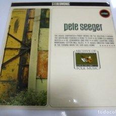 Discos de vinilo: LP. PETE SEEGER. THE HOUSE CARPENTER. ARCHIVE OF FOLK MUSIC. STEREOMONIC. 1968. Lote 173057119