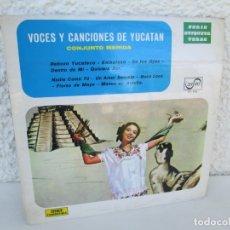 Discos de vinilo: VOCES Y CANCIONES DEL YUCATAN. CONJUNTO MERIDA. LP VINILO. ZAFIRO. 1973. VER FOTOGRAFIAS. Lote 173068197