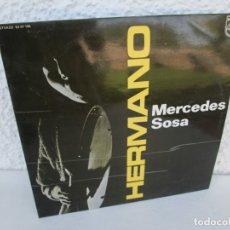 Discos de vinilo: HERMANO. MERCEDES SOSA. LP VINILO. PHILIPS. FONOGRAM 1974. VER FOTOGRAFIAS ADJUNTAS. Lote 173068458