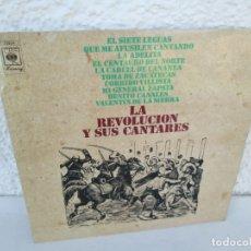 Discos de vinilo: LA REVOLUCION Y SUS CANTARES. LP VINILO. DISCOS CBS 1970. VER FOTOGRAFIAS ADJUNTAS. Lote 173068653