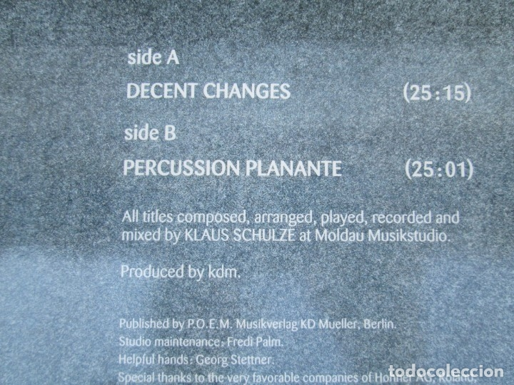 Discos de vinilo: KLAUS SCHULZE. MIDITERRANEAN PADS. LP VINILO. METRONOME MUSIK 1990. VER FOTOGRAFIAS ADJUNTAS - Foto 7 - 173071218