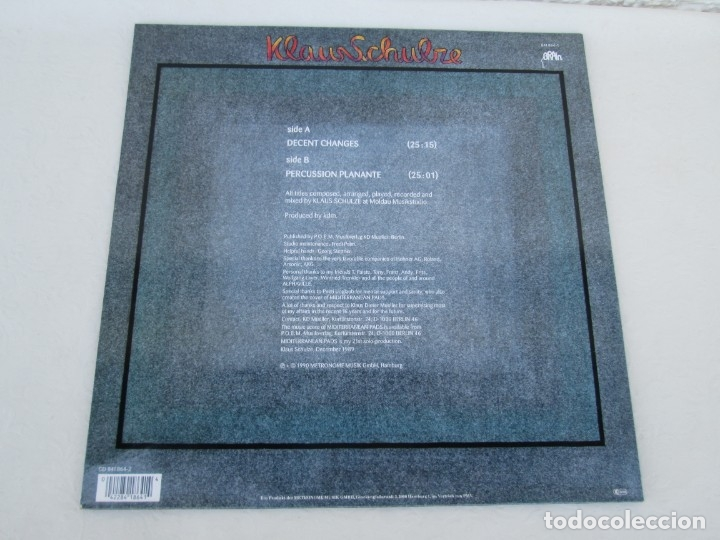 Discos de vinilo: KLAUS SCHULZE. MIDITERRANEAN PADS. LP VINILO. METRONOME MUSIK 1990. VER FOTOGRAFIAS ADJUNTAS - Foto 8 - 173071218