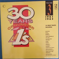 Discos de vinilo: 30 YEARS OF NUMBER ONES, 1961- 1963, VOL 3. . Lote 173071438