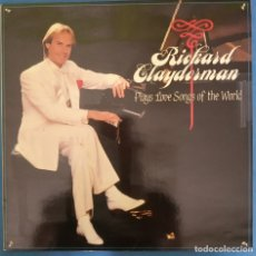 Discos de vinilo: RICHARD CLAYDERMAN, PLAYS LOVE SONGS OF THE WORLD - LP 1986. Lote 173072782