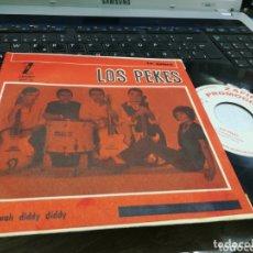 Discos de vinilo: LOS PEKES SINGLE PROMOCIONAL DO WAH DIDDY DIDDY 1965 EN PERFECTO ESTADO. Lote 173081390