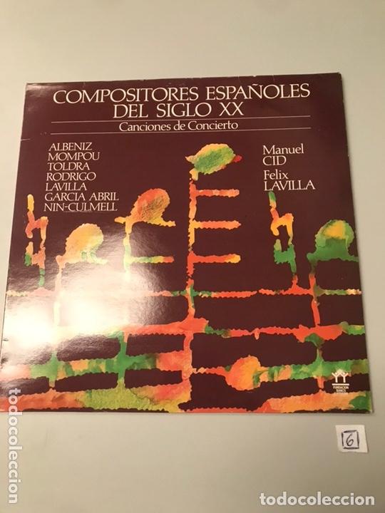 COMPOSITORES ESPAÑOLES DEL SIGLO XX (Música - Discos - LP Vinilo - Cantautores Españoles)