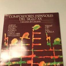 Discos de vinilo: COMPOSITORES ESPAÑOLES DEL SIGLO XX. Lote 173082397