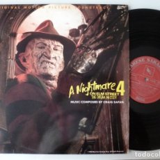 Discos de vinilo: A NIGHTMARE ON ELM STREET 4: THE DREAM MASTER (LP VARESE SARABANDE 1988 ALEMANIA) CRAIG SAFAN. Lote 173082625