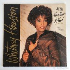 """Discos de vinilo: MAXI-SINGLE 12"""" - WHITNEY HOUSTOUN - ALL THE MAN THAT I NEED. Lote 173093648"""