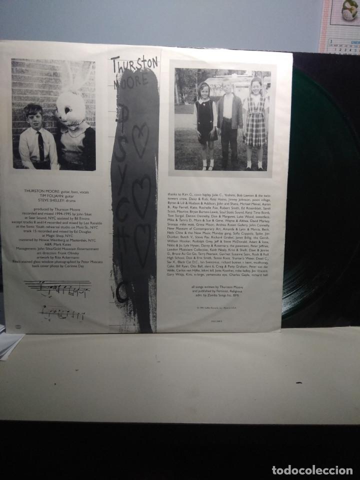 Discos de vinilo: LP THURSTON MOORE ( SONIC YOUTH ) : PSYCHIC HEARTS (CONTIENE DOS VINILOS, UNO NEGRO Y OTRO VERDE) - Foto 5 - 173095674