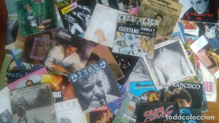 LOTE DE 200 DISCOS DE 7 PULGADAS (SINGLE) (Música - Discos de Vinilo - Singles - Pop - Rock Extranjero de los 80)