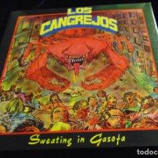 Discos de vinilo: LOS CANGREJOS – SWEATING IN GASOFA - EP 1990. Lote 173103048
