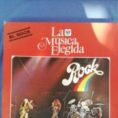 Discos de vinilo: LA MÚSICA ELEGIDA. EL ROCK. LIBRO + 4 VINILOS.. Lote 173116227