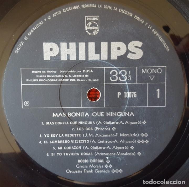 Discos de vinilo: ROCIO DURCAL Mas Bonita Que Nunca VINILO LP BANDA SONORA ORIGINAL EDICON MEXICANA - Foto 3 - 173123194
