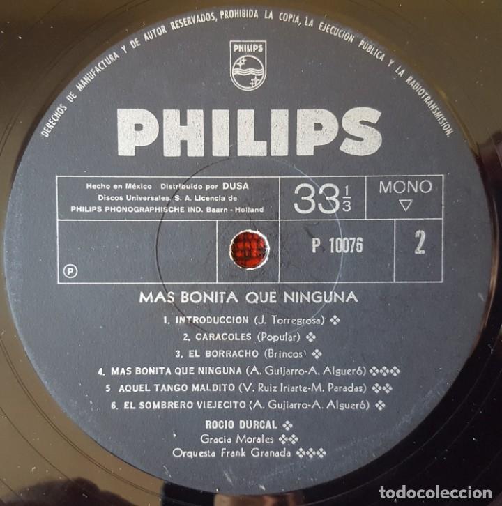 Discos de vinilo: ROCIO DURCAL Mas Bonita Que Nunca VINILO LP BANDA SONORA ORIGINAL EDICON MEXICANA - Foto 4 - 173123194