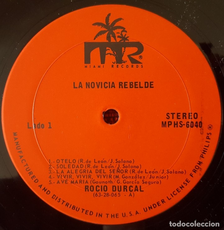 Discos de vinilo: ROCIO DURCAL La Novicia Rebelde VINILO LP ORIGINAL EDICION USA - Foto 3 - 173123437