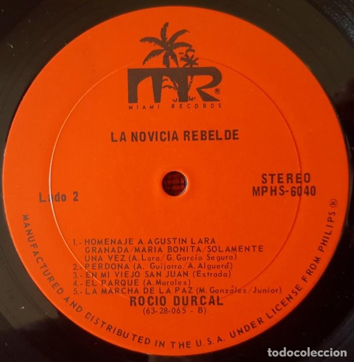 Discos de vinilo: ROCIO DURCAL La Novicia Rebelde VINILO LP ORIGINAL EDICION USA - Foto 4 - 173123437