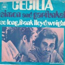 Discos de vinilo: SIMON & GARFUNKEL CECILIA LABEL CBS HOLLAND 1970 COVER VG-VG. Lote 173144107