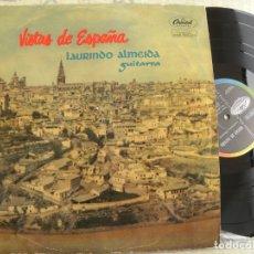 Discos de vinilo: LAURINDO ALMEIDA (GUITARRA) -VISTAS DE ESPAÑA -LP 1960. Lote 173149222