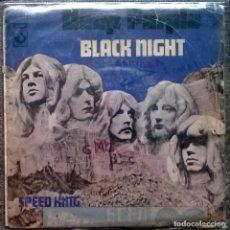Discos de vinilo: DEEP PURPLE. BLACK NIGHT/ SPEED KING. HARVEST, SPAIN 1970 SINGLE. Lote 173151307