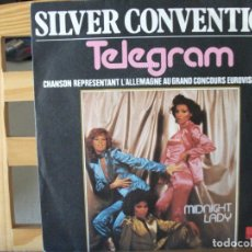 Discos de vinilo: SINGLE DE SILVER CONVENTION , TELEGRAM / MIDNIGHT LADY (AÑO 1977), ¡¡¡ EDICIÓN ALEMANA !!!. Lote 173151627