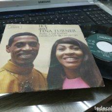 Discos de vinilo: IKE AND TINA TURNER SINGLE SHAKE A TAIL FEATHER ESPAÑA 1969. Lote 173152258