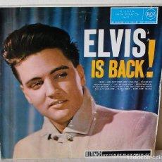 Discos de vinilo: ELVIS PRESLEY - IS BACK R C A - 1960 VG / VG. Lote 173154979