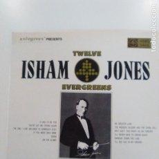 Discos de vinilo: ISHAM JONES TWELVE EVERGREENS ( 197? EVERGREEN USA ) EXCELENTE ESTADO ORCHESTRA. Lote 173156009