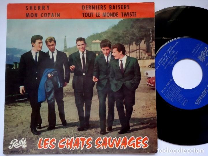 LES CHATS SAUVAGES - SHERRY - EP ESPAÑOL 1963 - PATHE (Música - Discos de Vinilo - EPs - Rock & Roll)