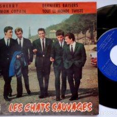 Discos de vinilo: LES CHATS SAUVAGES - SHERRY - EP ESPAÑOL 1963 - PATHE. Lote 173200519