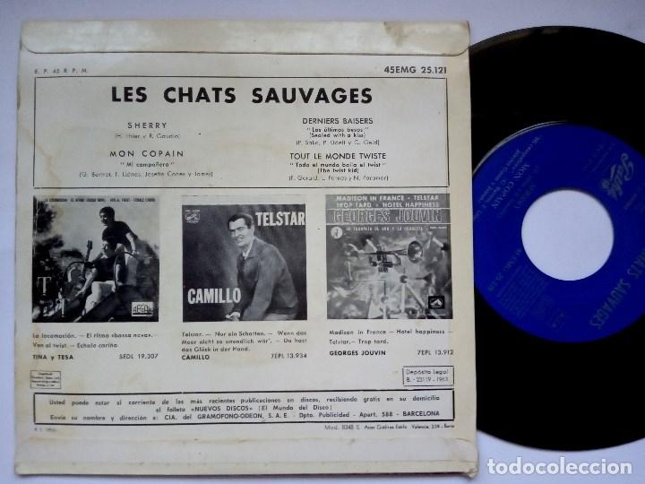 Discos de vinilo: LES CHATS SAUVAGES - sherry - EP ESPAÑOL 1963 - PATHE - Foto 2 - 173200519