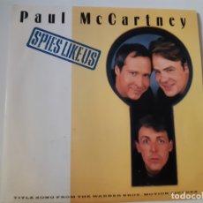 Discos de vinilo: PAUL MCCARTNEY- SPIES LIKE US- SPAIN SINGLE 1985- THE BEATLES- COMO NUEVO.. Lote 173208897