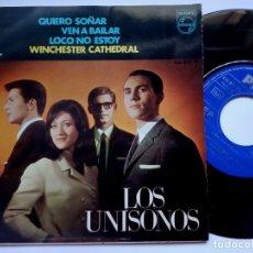 Discos de vinilo: LOS UNISONOS - QUIERO SOÑAR (I GO TO SLEEP) - EP 1967 - PHILIPS. Lote 173242159