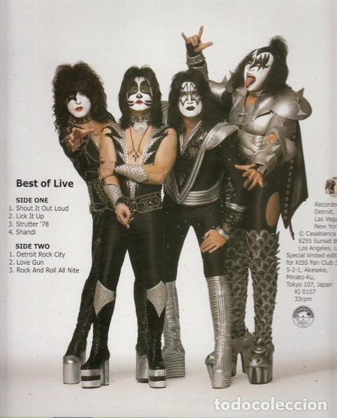 KISS ‎– BEST OF LIVE (Música - Discos - LP Vinilo - Rock & Roll)