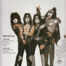 Discos de vinilo: KISS ‎– BEST OF LIVE. Lote 173243109