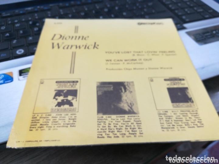 Discos de vinilo: Dionne Warwick single you've lost that lovin' feelin' España 1969 - Foto 2 - 173254509